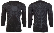 Archaic AFFLICTION Mens THERMAL T-Shirt COLLISION Tattoo Biker MMA UFC M-3XL $58