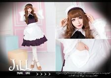 lolita fairy cosplay Kamikaze Girls restaurant maid tartan costume 3pc HA139 P