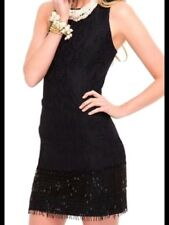 328.00 NWT LILLY PULITZER MURRAY DRESS BLACK BEADED TWO TONE FEATHER LACE 2,8,12