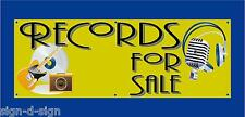 RECORDS FOR SALE   PVC Printed Banner Outdoor/Indoor Ideal cafe etc