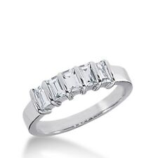0.95CT Women's Baguette Cut Diamond Wedding Band Ring in 14kt