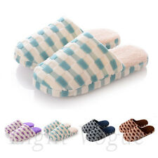 Cool HOT Women Men Plaid Warm Winter Soft Antiskid Indoor Home Cotton Slipper 50