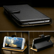 Luxury Genuine Real Leather Flip Case Wallet Cover For SAMSUNG GALAXY & APPLE