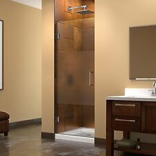 Dreamline Unidoor 23 in. W x 72 in. H Frameless Hinged Shower Door, Half Frosted