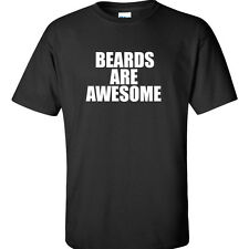 Beards Are Awesome Men's T-Shirt Funny Word Phrase Tee