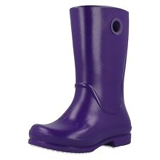 Girls CROCS Easy on purple patent wellie rain boot style number12470 ( samples)