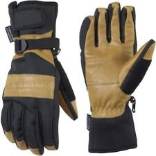 New Wells Lamont 7660 Grips Gold Insulated/Waterproof Work Gloves Cognac Brown