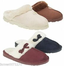Ladies slippers slip on womens mules bed slippers booties size uk 3 4 5 6 7 8