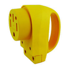 Marinco 50FCRV Replacement Plug, 50 Amp, Female, Yellow