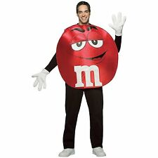 Adult M&M's Red Character Deluxe Unisex Halloween Costume Dress Up