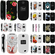 LG Revere 3 VN170 Snap On Slim Fitted Image Hard Rubber Case Cover Flowers