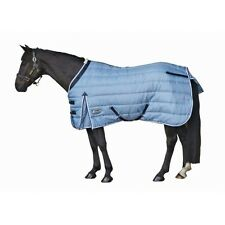 "Weatherbeeta Channel Quilt Stable Winter Turnout Blanket 420D Blue 60"" Foal Pony"