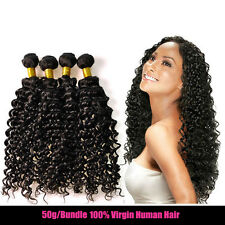 3 Bundle 150g Weave unprocessed 100% Brazilian Human Hair Extension Kinky Curly