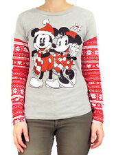Mickey & Minnie Mouse Fair Isle Long Sleeve T-Shirt