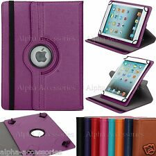 "Universal 360 Rotating PU Leather Stand Case For 7"" 7 Inch Tab Android Tablet PC"