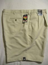 Roundtree & Yorke Travel Smart EXPANDER WAISTBAND Easy Care Stone Color Shorts