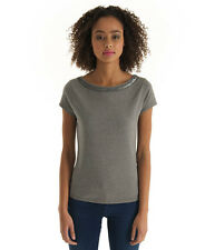 New Womens Superdry Luxe Sorority T-Shirt Academic Grey