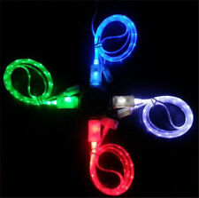 GLOW LED Neon Light USB Data Sync Cable Cord Charger Power For iPhone4/ Samsung