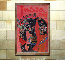 TWA India #1 - Vintage Airline Travel Poster
