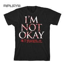 Official T Shirt MY CHEMICAL ROMANCE Lyrics I'm Not Okay All Sizes