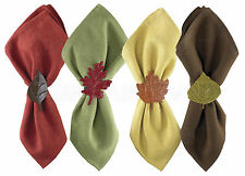 Leaf Napkin Rings by Park Designs, 4 Assorted, Thanksgiving, Autumn Table Decor