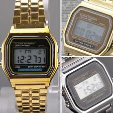 Mens Unisex Vintage Digital LCD Display Sport Watch Metal Montres classiques New