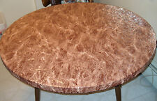 """AS IS  Round Vinyl Fitted Tablecloth 48"""" Patio Picnic table in/outside Elastic"""