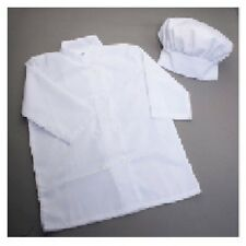 Child Kids White Chef Baker Cook Hat and Apron Shirt Costume Kit Set Cap