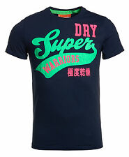 New Mens Superdry Factory Second Warriors Entry T-Shirt French Navy