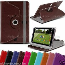 "Universal PU Leather 360° Swivel Case Cover For 10"" 10.1 Inch Tab Android Tablet"