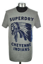 New Mens Superdry Factory Second Cheyenne T-Shirt Dark Marl