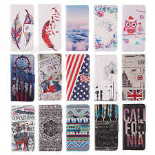 1Pc For Various Phone 15 Patterns Choose Wallet Card PU Leather Flip Stand Case
