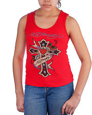 Ed Hardy Beyonce Tank Top for Girls -Red