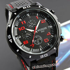 New Speed Chronograph Round Dial Rubber Band Quartz Wrist Watch Men Women Gifts