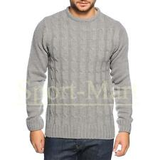 Mens Soulstar Cable Twist Crew Neck Knitted Smart Jumper Sweater Size