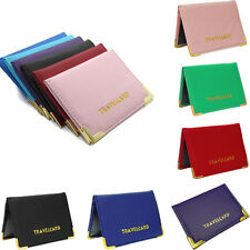 Fashion Oyster Travel Bus Pass Leather Holder Wallet Rail Band Card Cover Case