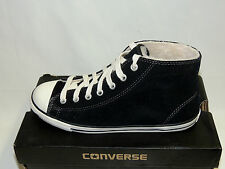 CONVERSE CT DAINTY MID BLACK SUEDE FLEECE LINED TRAINERS. BNIB.