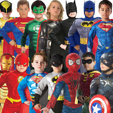 Deluxe Child Muscle Chest Boys Superhero Kids Fancy Dress New Costume Outfit