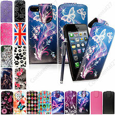 Premium Quality PU Leather Flip Top Opening Case Cover For Various Mobile+Stylus