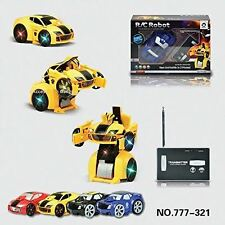 RC Remote Control Transformers Car to Robot Radio Controlled Kids Children