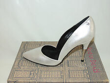 RED OR DEAD 'AFTER PARTY' SILVER LEATHER SHOES. BNIB