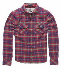 New Womens Superdry Lumberjack Quilt Patch Shirt Tuscan Red