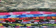 1 Yd Kickin Camo Quilt Fabric U Pick Camouflage Army Red Purple Neon Green Pink