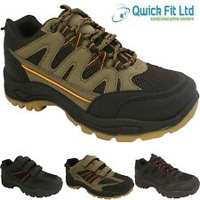 MENS QUALITY HIKING BOOTS TRAINERS WALKING TREKKING TRAIL VELCRO LACE UP SHOES