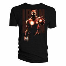 IRON MAN GLOWING HAND & CHEST T-SHIRT MENS S M L XL RETRO TEE TOP MARVEL STARK