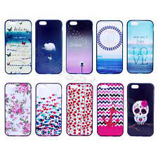 For iPhone Samsung Galaxy Beautiful TPU Rubber+Plastic 2 in 1 Hybrid Case Cover