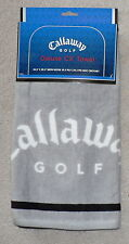 CALLAWAY GOLF Deluxe CX Towel with Hook 19.5x29.5 in. Gray w/Black   NWT