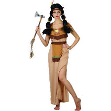 Ladies Indian Squaw Costume for Cowboys Indians Fancy Dress Womens