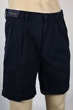 "Polo Ralph Lauren Navy Blue Classic Fit 9"" Pleated Chino Shorts NWT"