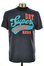 New Mens Superdry Factory Second Warriors Entry T-Shirt Navy Marl